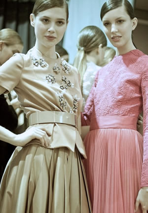 Backstage at Miss Dior Fall Winter 2012